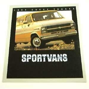 1984 84 Chevrolet Chevy SPORTVAN Van BROCHURE G10 G20