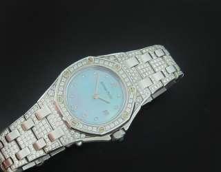 LADY AUDEMARS PIGUET ROYAL OAK OFFSHORE DIAMOND WHITE GOLD WATCH