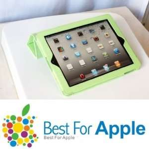 Leather Tri Fold Wake up / sleep magnetic Smart Cover case for iPad 3