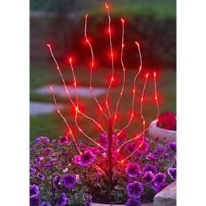 Outdoor Battery Operated Red LED Branch Light   Timer