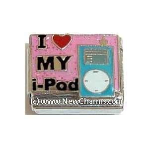 I Love My iPod Italian Charm Bracelet Jewelry Link
