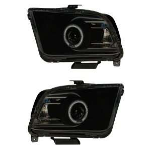 FORD MUSTANG 05 09 PROJECTOR HEADLIGHT HALO SMOKE CLEAR (2010 STYLE