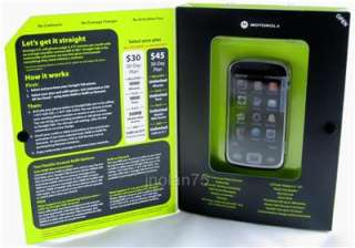 STRAIGHT TALK Motorola EX124G KINGFISHER Touch Screen Phone Silver