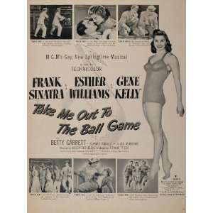 Out to Ball Game Esther Williams   Original Print Ad