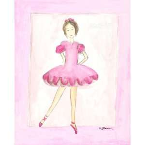 Tiny Dancer Dance Pink Girl Art By Serena Bowman