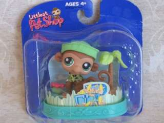 Littlest Pet Shop MONKEY w/HABITAT #57 Retired NIB 2004