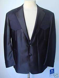 40R NWT Mens Western Wear Sport Coat Black SwedishKnit