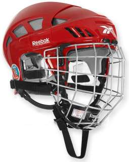 New Reebok 6K Hockey Helmets With Cage   Red