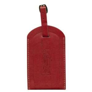 Pierre Belvedere Executive Luggage Tag, New York Red