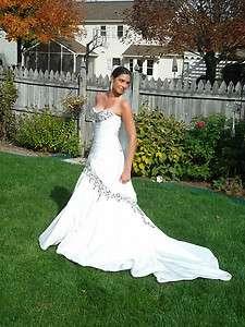 Sofia Tolli Black & White Wedding Dress