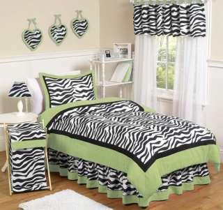 BLACK ZEBRA PRINT GIRL CHILDREN TEEN FULL QUEEN SIZED BEDDING SET ROOM