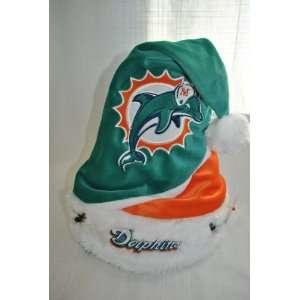 Miami Dolphins plush holly NFL Swoop Team logo Santa Hat