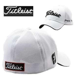 titleist golf structured sports mesh caps white black