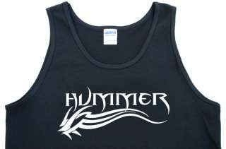 Tribal Design Black Tank Shirt Hummer Xterra Titan