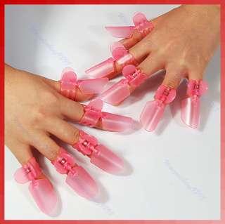 10pcs Nail Polish Protection Clipper Nail Art Tips Pink