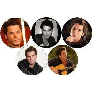 Set of 5   TIM ROZON   Actor Pinback Buttons 1.25 Pins