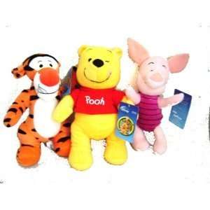 Winnie the Pooh Tigger Piglet 3 Plush Doll Stuffed Toy Toys & Games
