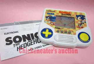 SEGA TIGER SONIC THE HEDGEHOG ELECTRONIC VIDEO LCD GAME +MANUAL *WORKS