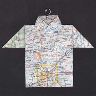Origami Map Shirt Little Rock, Conway, Beebe, Searcy