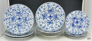 11 Antique Royal Bayreuth Plate/Bowls Blue/White Floral