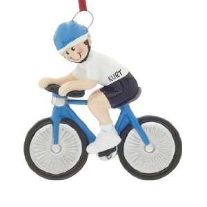 Personalized Bike Rider Boy Christmas Ornament