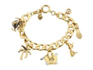 NIB Juicy Couture CALI CHARM BRACELET palm tree heart