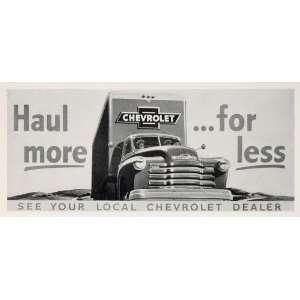 1950 Billboard Chevrolet Chevy Truck Ad Campbell Ewald