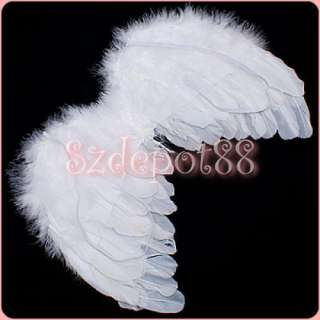 Baby feather angel wings cupid fairy photo props 6 18mo