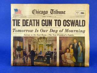 Nov 24 1963 Chicago Tribune Newspaper JFK   Oswald   Johnson