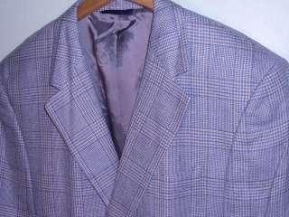 Brooks Brothers Beig Blue Wool Silk Linen Coat 44 L