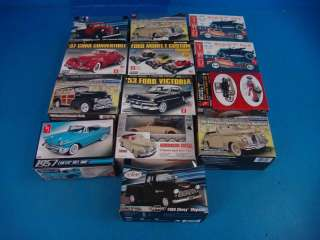 Testors AMT Model Car Truck Plastic Kit Bel Air T Chevy Roadster Cord