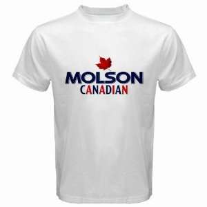 Molson Canadian Beer Logo New White T Shirt Size  M