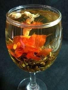 Process tea 06 FLOWER fairy STYLE  bud Blooming jasmine fashion beauty
