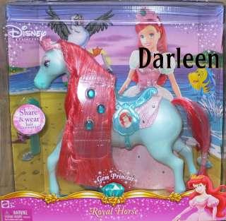 Disney GEM Princess Royal Horse for Ariel doll the little mermaid