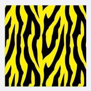 ZEBRA STRIPES PATTERN Yellow & Black CRAFT VINYL Sheets 6x6 x3 Great