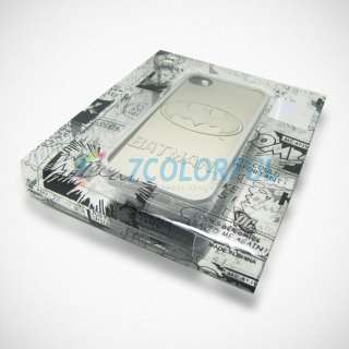 Hard Back Case Cover Skin For Apple iPhone 4 4G 4S + Protector