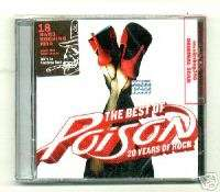 POISON BEST 20 YEARS ROCK SEALED CD NEW GREATEST HITS