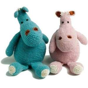 Blue Wool Hippo from En Gry & Sif Fair Trade Baby