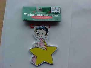 Betty Boop Wooden Christmas Ornaments