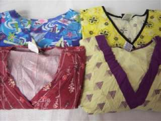 Medical Dental Scrubs Lot 13 MIXED SCRUB SHIRTS TOPS Size XL EXTRA