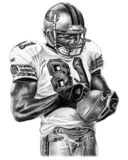 TERRELL OWENS SHARPIE LITHOGRAPH POSTER IN 49ERS JERSEY