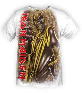Iron Maiden Big Eddie Yellow Lit Killers Monster Skeleton T Shirt NWT