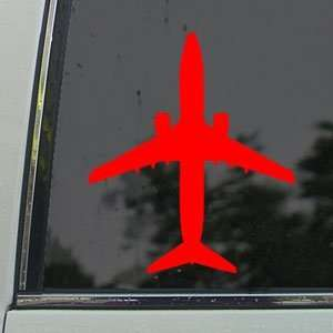 Boeing 737 800 Jet Airliner Red Decal Window Red Sticker