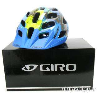 HEX Blue/Bright Yellow Cloud Nine MTB Bike Helmet LARGE MSRP $90 New