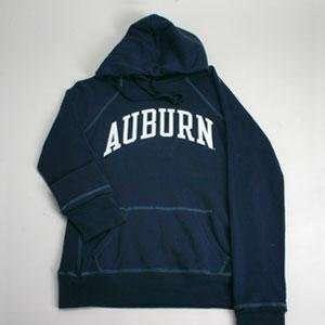 Auburn Hooded Sweatshirt   Ladies Hoody By League   Navy