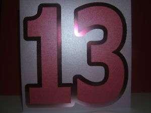 Handmade 13th birthday card girl 16th 18th any age