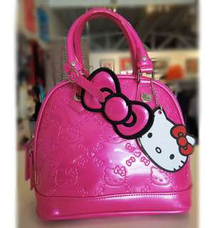 NEW Loungefly HELLO KITTY MINI FUSCHIA PINK EMBOSSED TOTE BAG