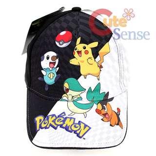 Pokemon Black and White Kids Hat Youth Baseball Cap Cotton Adjustable