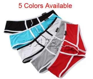 Mens Bulge Pouch Low Rise Trunks boxers briefs underwear 5Color+S/M/L