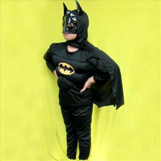 Muscle Batman Outfits Xmas Halloween Mask Boys Fancy Dress Costume 5